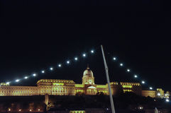Light chain and the buda castle Royalty Free Stock Image