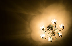 Light from the Chandelier. Light from the chandelier as if it was some communication with us Royalty Free Stock Images