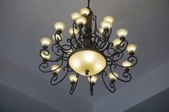 Light of chandelier. Light of vintahe chanderlier stock image