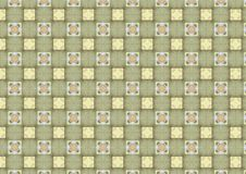 Light Chequered Tiles Pattern. A background texture pattern with country kitchen colors royalty free stock image