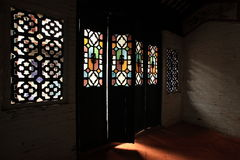 Light through the Chinese old style door. Light can through the old style door in China, this style is only use in habitation. temple ese have another style Royalty Free Stock Photo
