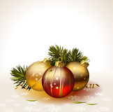 Light Christmas background Royalty Free Stock Photography