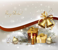 Light Christmas background Stock Photos