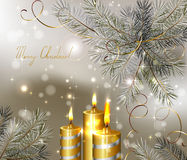 Light Christmas background Royalty Free Stock Images