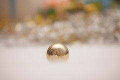 Light Christmas background with evening ball Stock Image
