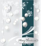 Light Christmas background with sea blue color Stock Images