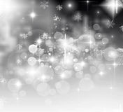 Light Christmas background with white snowflakes Stock Image