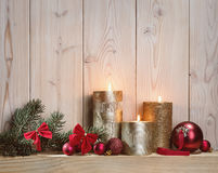 Light of Christmas candles. Stock Image
