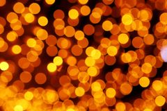 Light Christmas light in warm colors - bokeh Royalty Free Stock Photos