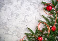 Light christmas or new year background for greeting card or poster. Party invitation. Background for the article royalty free stock image
