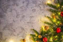 Light christmas or new year background for greeting card or poster. Party invitation. Background for the article stock photos