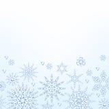 Light christmas new year winter snowflakes Royalty Free Stock Photo