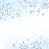 Light christmas new year winter snowflakes Royalty Free Stock Image