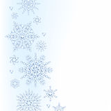 Light christmas new year winter snowflakes Stock Photos