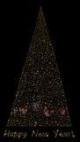 Light christmas tree Stock Photography