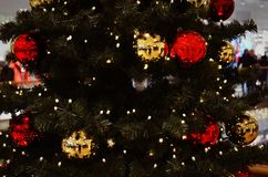 Christmastree. A light christmastree in a christmasworld Stock Image