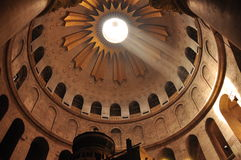 Light in the Church of Holy Sepulcher Royalty Free Stock Image