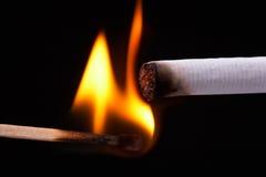 Light a cigarette Stock Image