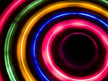 Light circles. Colorful light circles. This is a real picture, no Photoshop stock photography