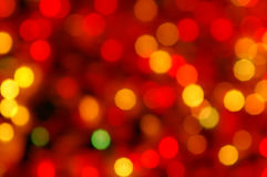 Light circles. Circles of light - abstract Christmas decoration Stock Photo