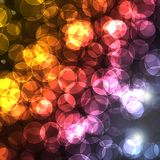 Light Circles. Abstract colorful bokeh effect with circles Royalty Free Stock Photos