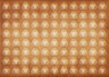 Light circles retro pattern. With brown grunge background royalty free stock photo