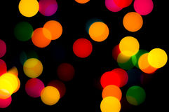 Light circular bokeh background of Christmaslight Stock Photos