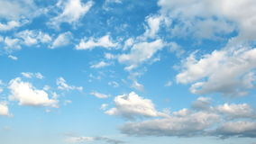 Light cirrus clouds in the blue sky. stock video
