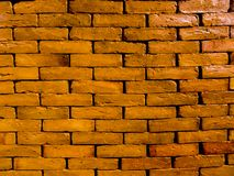 Light clay colored bricks stacked dry. Thin clay glazed brick layed on top on each other royalty free stock images