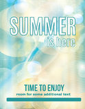 Light and clean summer party flyer Stock Image