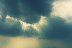 Light through cloud Stock Photo