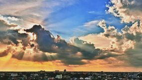 Light and cloud Stock Photography