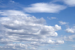 Light clouds. Bright light spread clouds daytime sky Royalty Free Stock Images