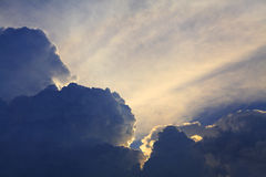 Light from the clouds Royalty Free Stock Images