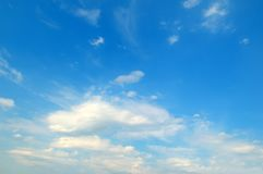 Light clouds in the blue sky royalty free stock photography