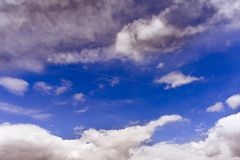 Light clouds in the blue sky. Light clouds in the blue spring sky chelyabinsk region russia background beauty clear summer white air weather nature view stock photography