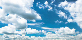 Light clouds blue sky in sunshine day in thailand Royalty Free Stock Photos