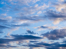 Light Clouds Scattered. Across The Sky royalty free stock images