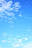 Light clouds in the sky. Natural background, space for your own text Stock Photography