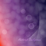 Light cloudy circles like bokeh effect. Abstract of light cloudy circles like bokeh effect on purple and red gradient background and with light smooth layers on Royalty Free Stock Photo