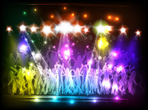 Light Club party Stock Photo