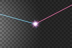 The light of the collision of two forces with red and blue light. An outburst of two stars royalty free illustration