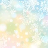 Light color background with snowflakes and stars stock images