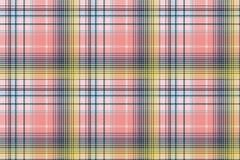 Light color check plaid pixel seamless pattern. Vector illustration royalty free illustration