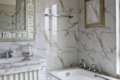 Light color style of natural decorative pattern of marble bathroom home Royalty Free Stock Image