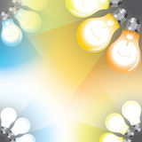 Light color temperature scale Stock Images