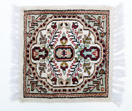 Light colored small rug from Pakistan Royalty Free Stock Images