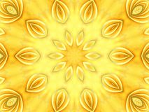 Light Colored Texture Petals. A gold sun flower texture pattern background with golden petals with a touch of orange texture in a circular design Royalty Free Stock Images