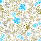 Light colorful floral background with dandelions, decorative sno Stock Photography