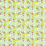 Light colorful floral vintage seamless pattern Royalty Free Stock Photo